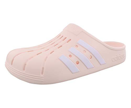 adidas,Unisex-Adult,Adilette Clog,Pink Tint/White/Pink Tint,5