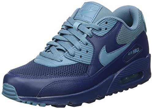 Nike Air Max 90 Essential, Zapatillas Hombre, Azul (Midnight Navy/Smokey Blue/Midnight Navy), 40 EU
